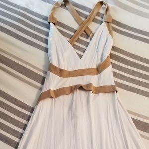 White knee high dress